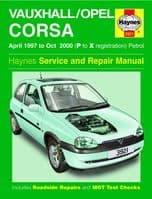 Haynes 3921 Workshop Repair Manual Vauxhall Corsa 97 - 00 (P To X Reg) Petrol